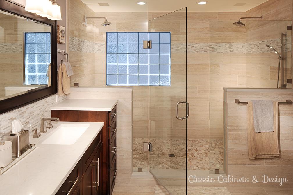 Frame-less European Style Double Shower