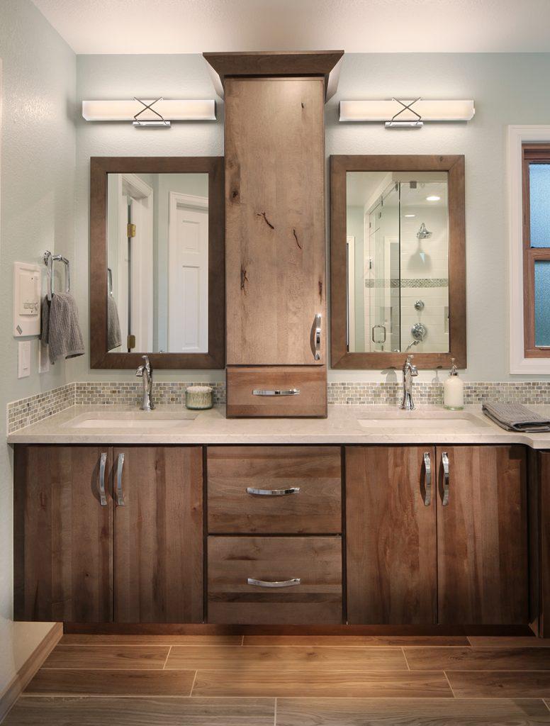 Rustic Maple Bathroom Vanity