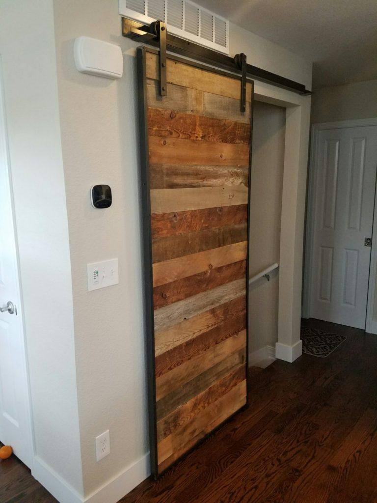Sliding Barn Door made from reclaimed wood