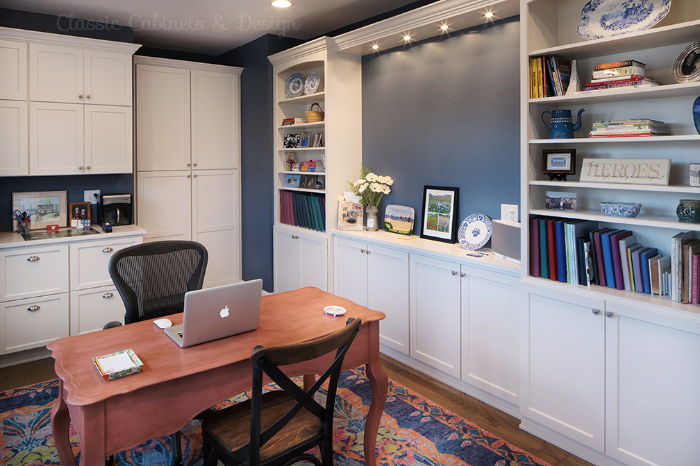 Office with Built-In Cabinetry