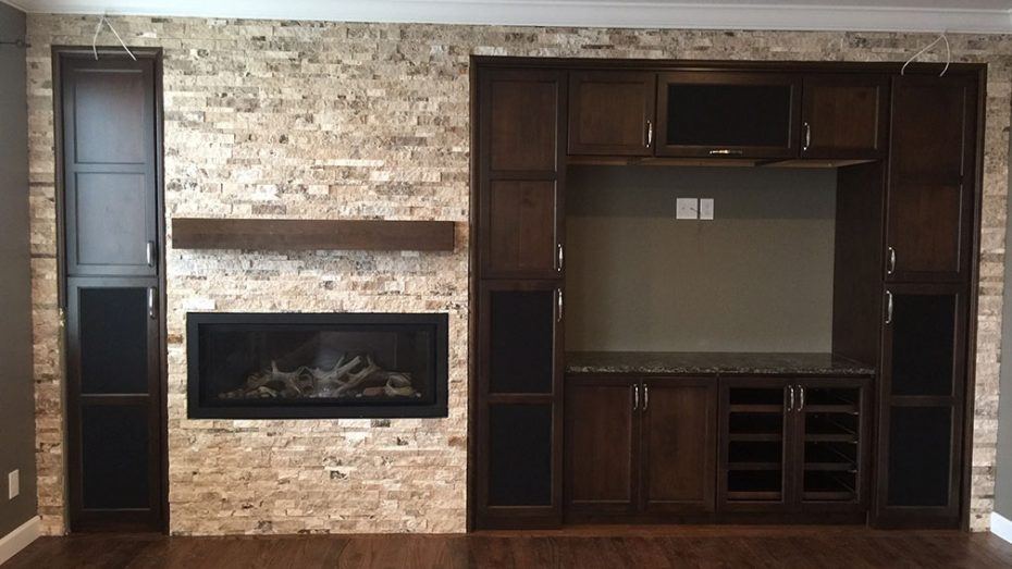 A Stacked Stone Fireplace to Love